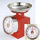 """Kitchen timer """"American scale look"""" Red"""