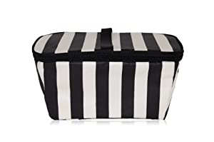 xo(eco) Brush Box, Black/Cream Tuxedo Stripe