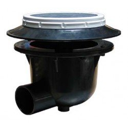 Koi toilet i aerated bottom drain 3 inch for Bottom drain pond filter