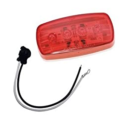 WESBAR LED CLEARANCE-SIDE MRKR LIGHT RED #58 WITH PIGTAIL \