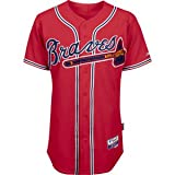 MLB Mens Atlanta Braves Scarlet Alternate Replica Baseball Jersey (Scarlet, Small)