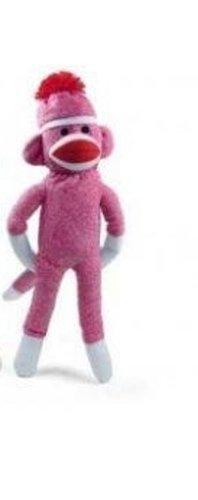 Original Sock Monkey 20 Inches Tall (Pink) at 'Sock Monkeys'