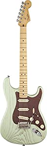Fender FSR American Stratocaster Electric Guitar, Rustic Ash Body, Maple Fingerboard - Surf Green