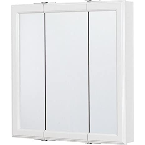 """RSI Cbt24-wh-b 24"""" X 4 1/4"""" X 24"""" White Tri View Mirrored Medicine Cabinet"""