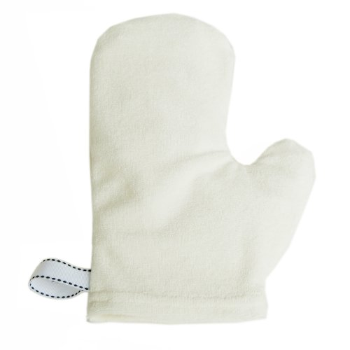 Satsuma Designs Terrycloth Bath Wash Mitt, White