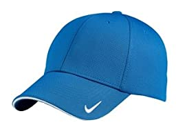 Nike Golf 333115 Adult\'s Dri-FIT Swoosh Flex Sandwich Cap Light Blue Large/X-Large