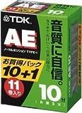 TDK オーディオカセットテープ AE 10分11巻パック [AE-10X11G]