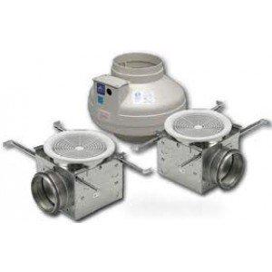 Sale Fantech Pb270 2 Inline Exhaust Fan 270 Cfm Bathroom Kit 2 Grilles For 4 6 Duct