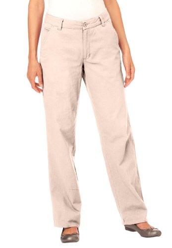 158e7ac1b17ab Woman Within Plus Size Petite Super Soft Khaki Pants (Light Stone