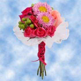 8 Pink Rose Nosegays Bridal Wedding Flowers Everything