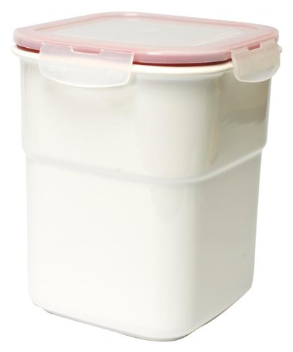 Housewares International 88-Ounce White Ceramic Storage Container with Silicone Snap-Lock Lid  sc 1 st  Google Sites & CERAMIC STORAGE JARS