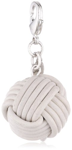 Pilgrim Women's Mega Charms Pendant Brass Silver Plated White 514245