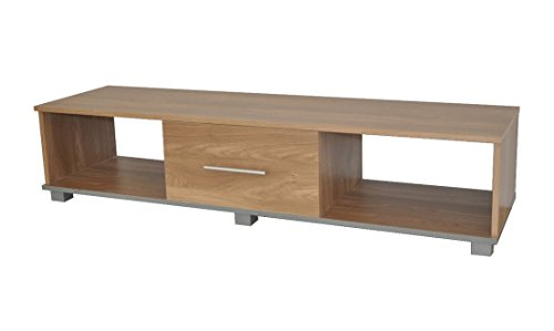 Buying Guide of  TV Stand Widescreen Unit Oak Effect Finish Suitable for 50 Inch Television York