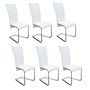 Sedie moderne design bianche sedie pranzo cucina e for Amazon sedie soggiorno