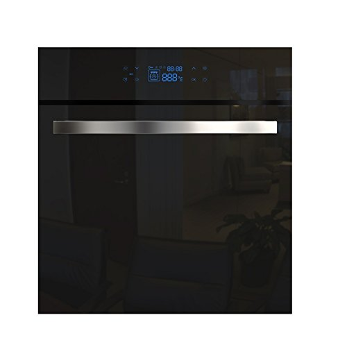 Empava KQC65C-17 Tempered Glass LED Digital Touch Controls Electric Built-in Single Wall Oven 3400W 110V, Black (Wall Electric Oven compare prices)