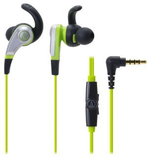 Audio-Technica SonicFuel in-ear headphones for Smartphones with In-line Mic -0 - Control ATH-CKX5iS GR (Green) [parallel import goods]