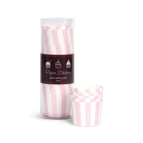 Paper Eskimo Baking Cups, Marshmallow Pink, 25-Pack front-967639