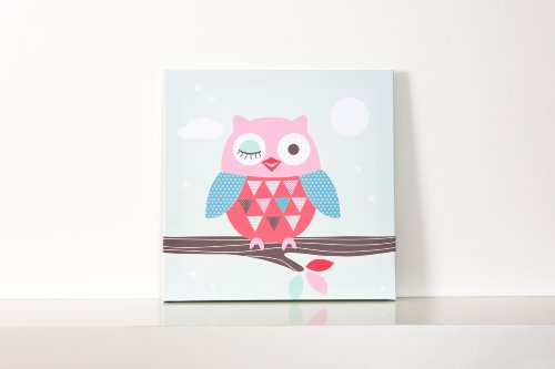 Forwalls Owl Wall Canvas (winking)