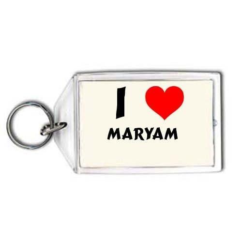 Amazon.com: I love Maryam personalized keychain (first ...