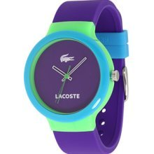 Lacoste Goa Purple Dial Purple Rubber Unisex Watch 2020005