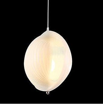 Comtemporary 3 light pendant lights in white shell design for Shell ceiling light fixtures
