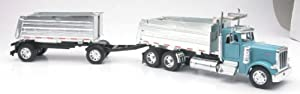 PETERBILT MODEL 379 DOUBLE DUMP Truck New Ray