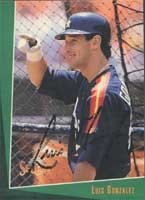 Luis Gonzalez Houston Astros 1992 Score Select Autographed Hand Signed Trading Card -... by Hall+of+Fame+Memorabilia