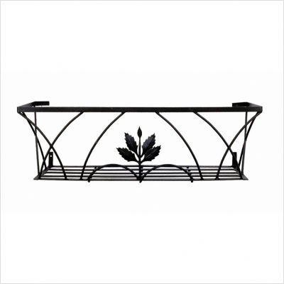 achla feng shui patio decor black wrought iron corbeille window box plant stands garden planters achla designs wrought iron