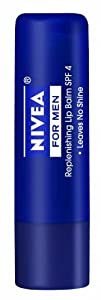 Nivea for Men Replenishing Lip Balm, Broad Spectrum SPF 4 (Pack of 6)