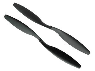 Sales Draganfly Innovations 12x4.5 Counter Rotating Pair Electric RC Helicopter + RC Airplane Propellers
