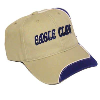 EAGLE CLAW FISHING FISH TACKLE RODS REEL KHAKI HAT CAP