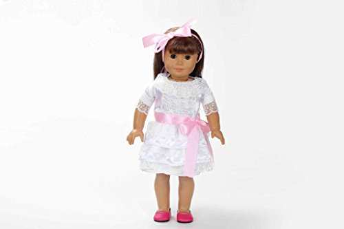 Teenitor(TM) White Princes Style Dress Fits 18 Inch Girl Dolls (Shipping By FBA) - 1