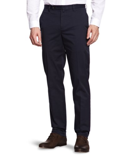 Brooks Brothers Front Marco Pant Straight Men's Trousers Navy W32 INxL34 IN