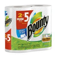 Bounty Paper Towels 2 Select A Size Huge Rolls (equivalent to 5 Regular Rolls) (037000820659)
