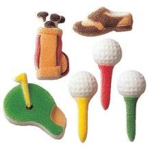 12 Sugar Golf Assortment - Cake / Cupcake Decorations ...