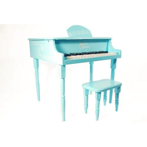 Austin Bazaar Kids 30 Keys Baby Grand Piano with Matching Bench - Blue