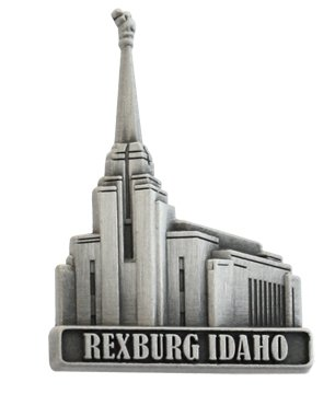 LDS Mens Rexburg Idaho Temple Silver Steel Tie Tac / Tie Pin for Boys