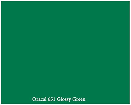 """12"""" X 10 Ft Roll Of Glossy Oracal 651 Green Repositionable Adhesive-Backed Vinyl For Craft Cutters, Punches And Vinyl Sign Cutters By Vinylxsticker front-60302"""