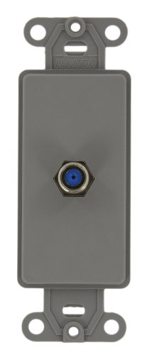 Leviton 40681-GY Decora Insert, F Connector, Grey