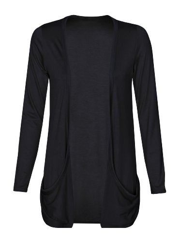 TrendyFashion -  Cardigan  - Basic - Donna nero Medium