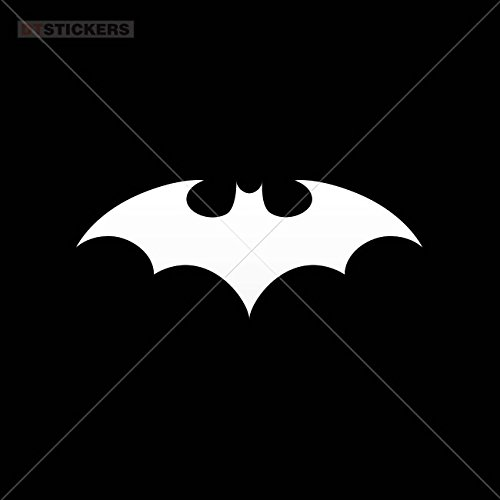 Vinyl Stickers Decal But In Flight Logo For Helmet waterproof batman down weird mascot (2 X 0,80 Inches) Vinyl color White