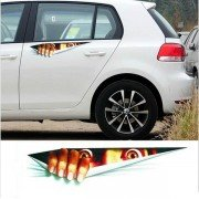 Funny Peeking Monster Waterproof Fashion Car Sticker Car Styling For All Cars