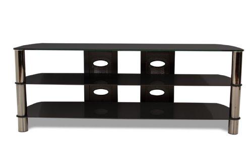 techcraft bel57b 57 inch wide flat panel tv stand black cheap price. Black Bedroom Furniture Sets. Home Design Ideas