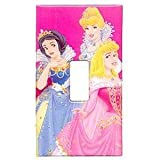 Disney Princess Light Switch Plate Sticker Girls Single Switchplate Cover