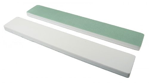 quickshine-high-gloss-green-white-1-1-8-wide-jumbo-buffer-by-nail-file-guru