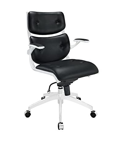 Modway Push Midback Office Chair, Black