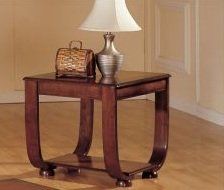 Cheap Beautiful 1-pc End Table in Dark Cherry Finish PDS F60016 (B004RQXPNW)