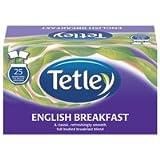 Tetley English Breakfast Tea Bags Drawstring in Envelope - Pack of 25 Tea Bags