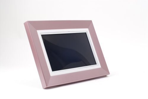 "Daewoo 7"" Digital Photo Frame With MP3 & USB Port - Pink"