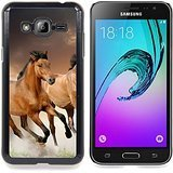 Smartphone Protective Case Slim PC Hard Cover Case for Samsung Galaxy J3 GSM-J300 / CECELL Phone case / / Horses Wild Running Free Symbol Nature /